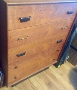 vintage teak dresser, reduced price