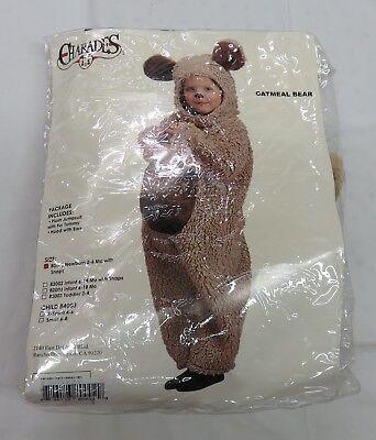 Oatmeal Bear Toddler Halloween Costume - Newborn 0-6 months - Plush Jumpsuit