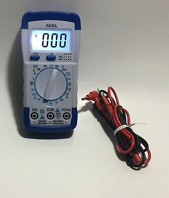Lcd Digital Multimeter Dc Ac Voltage Diode Frequency Multitester A830l Leads