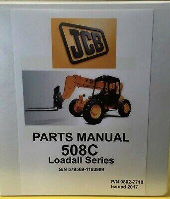 Jcb 508c Loadall Parts Manual - 9802-7710