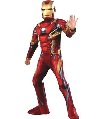 Avengers Iron Man Boys 3D Child Muscle Costume Size 4-6 New Marvel Civil War