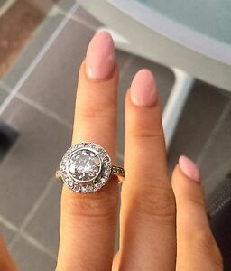 3.06 CT Stunning Halo Engagement Ring Perth Perth City Area Preview