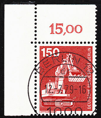 56) Berlin I&T 584 150 Pf Eckrand Ecke E1 EST Berlin 12 mit Gummi Typ II RAR