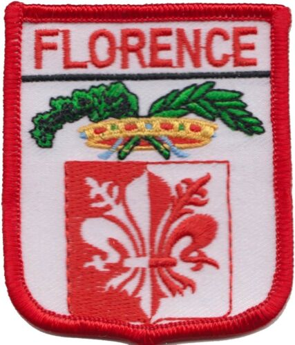 Italy Florence Province Coat Of Arms Shield Embroidered Patch