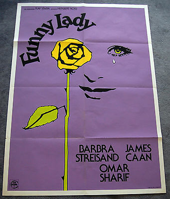 FUNNY LADY – BARBRA STREISAND – ORIGINAL 1975 ITALIAN MOVIE POSTER – NEAR MINT