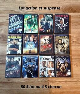 Lot films action et suspense