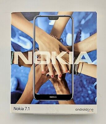 Nokia 7.1 TA-1085 64GB Blue Unlocked Android Smartphone In Box Fair Shape