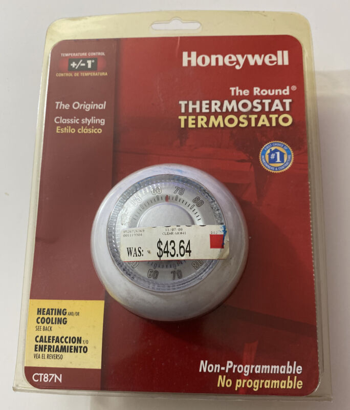 Honeywell NON Programmable Classic Thermostat CT87N Brand New Sealed Factory Pkg