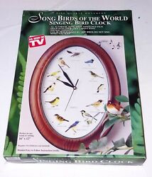 Song Birds of the World Singing Bird Clock Different Song Sound Every Hour