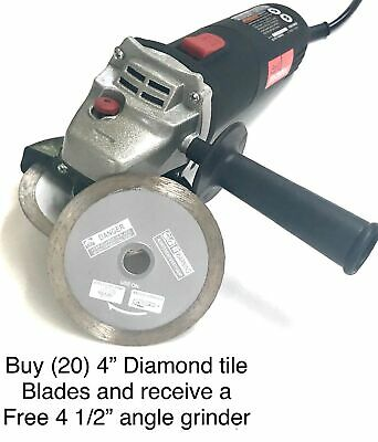 4'' Continuous Tile Diamond Saw Blade wet/dry (buy 20 get a free angle grinder)