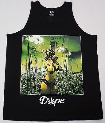 Marijuana Tank Top T-shirt Gas Mask 420 Weed Pot Vest Men L-3XL Black New