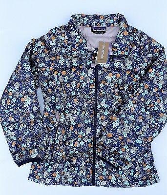 Patagonia Girls Untamed Ditsy Big Vjosa Green Down Sweater Jacket Size 12 L