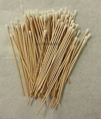100 Pc Cotton Swab Applicator Q-tip Swabs 6in Extra Long Wood Handle Sturdy New