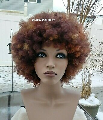 Super Nice JUMBO AFRO Wig .. UNISEX for Men and Women.  3 Red Tones!  (Mens Red Wig)