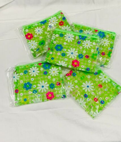 NOS Vintage Deadstock 90s does 70s Neon Green Daisy