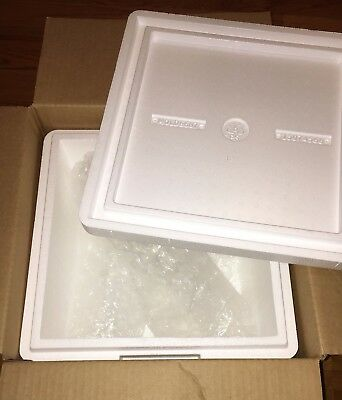 Styrofoam Insulated Shipping Cooler Box Thermosafe Mailer Large Cube