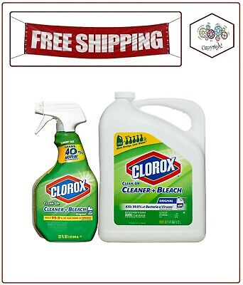 All Purpose Cleaner Spray (Clorox Clean-Up All-Purpose Cleaner with Bleach, Original, 32 oz. Spray and 180)