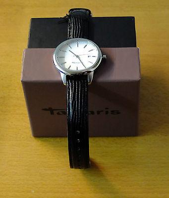 Tolle Tamaris Damen Armbanduhr Valerie B09010010 mit Lederband und Quarzwerk