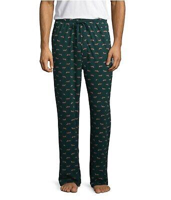 Stafford Mens Sleep Lounge Pajama Pants Classic Fit Green Fox Rabbit L-XXL