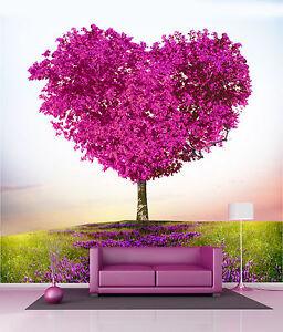 Papier peint g ant d coration murale arbre coeur r f 4509 - Decoration murale papier peint ...