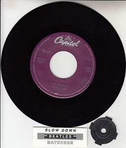 BEATLES-Slow-Down-Matchbox-RARE-45-rpm-7-RECORD-BRAND-NEW-juke-box-strip