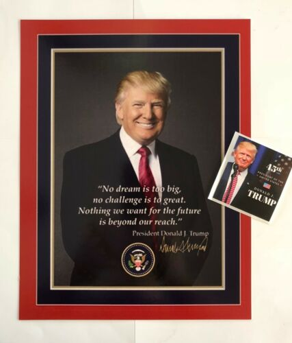 """President Donald Trump 8 1/2""""x11  on Card Stock... Photo Portrait Picture +Decal"""