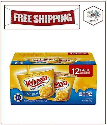 Velveeta Shells & Cheese Microwavable Macaroni and Cheese (2.39 oz. Cups, 12 (Microwave Macaroni And Cheese)