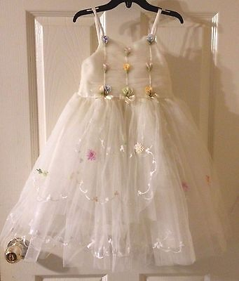 Ivory Flower Girl Size 3T Dress Baby Infant Toddler Birthday Wedding Pageant