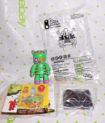 HTF Green Cheshire Cat Qee Key Chain Designer Collection TOY2R 2004 Mint in Pkg for sale  Campbell