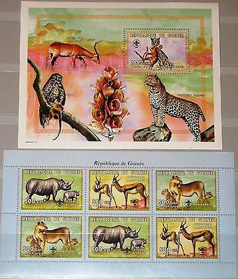 GUINEA 1999 KLB 2474 76 BLOCK 597 S UGETIERE TIERE ANIMALS FAUNA L WE LEOPARD