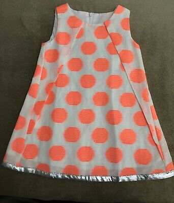 Anne Kurris toddler girls size 2 NWT orange polka dot shift dress