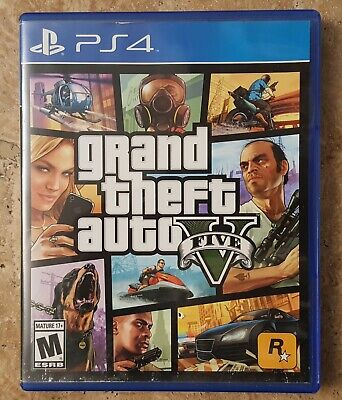 Grand Theft Auto V (Sony PlayStation 4, 2014) Used In Good Condition Complete