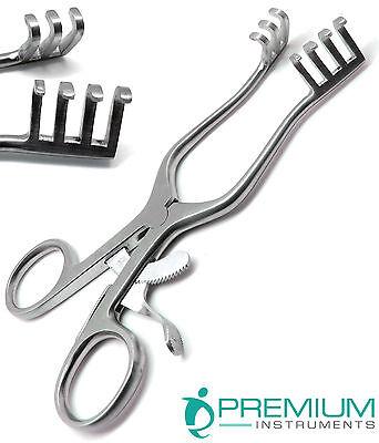 Surgical Weitlaner Retractors 6.5 Blunt 3x4 Prongs Premium Instruments