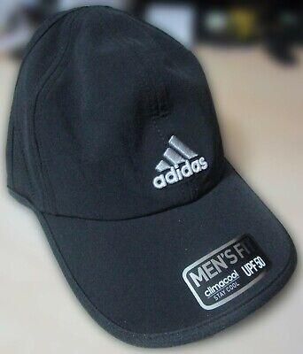 Mens Adidas Climacool Hat Baseball Cap Adjustable Golf Running UPF 50 BLK New