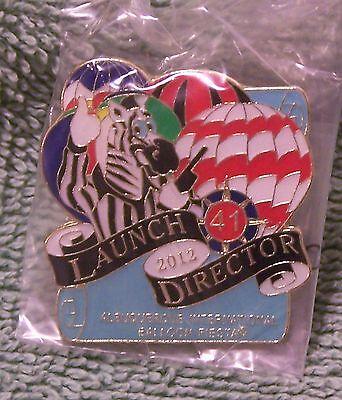 2012 LAUNCH DIRECTOR 41 ALBUQUERQUE INTERNATIONAL BALLOON FIESTA BALLOON PIN