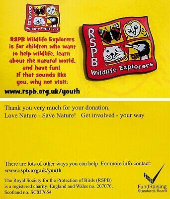 RSPB Pin Badge WEX Wildlfe Explorers Logo 01245