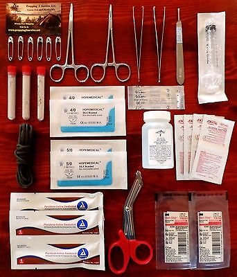 Surgical Suture Kit, First Aid Set, Emergency Kit, Trauma Tactical Bag EMT EMS