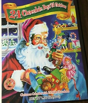 Santa and Toys CHRISTMAS ADVENT CALENDAR with Stickers Activity Book Coloring - Advent Colors