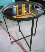 New Industrial Metal Mirror Rustic Round Jimmy Side Tables Melbourne CBD Melbourne City Preview
