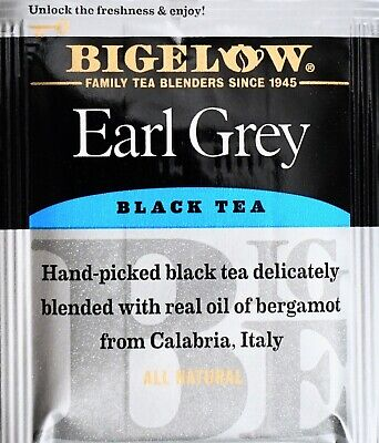 Bigelow Earl Grey Black Tea with Bergamot All-Natural, Individually Wrapped ()