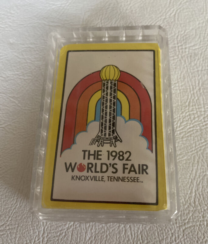 1982 World's Fair deck of playing cards in case NEW old stock