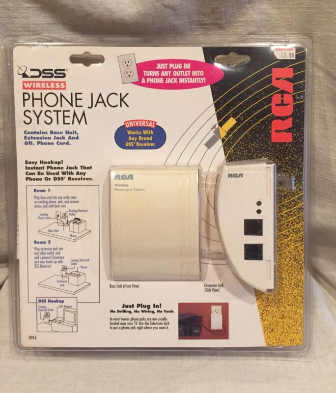 RCA DSS Wireless Phone Jack System D916 W/ Original Box and Instructions