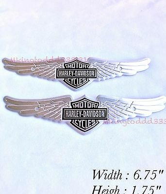 2X Motorcycle Gas Tank Emblems For Harley Davidson Touring Sportster Softail