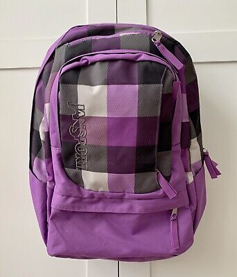 Jansport Big Student Backpack ~ Lilac/grey Check ~ One Size ~ Used Once.