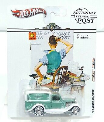 Hot Wheels Pop Culture Saturday Evening Post '34 Dodge Delivery Real Riders