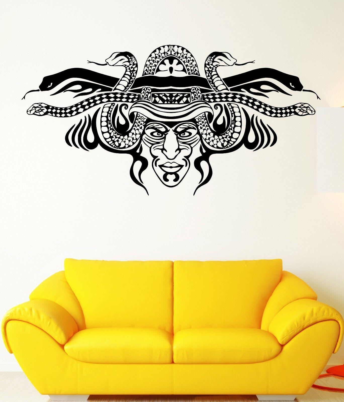 Wall Stickers Barbarian Shaman Mask Snakes Art Mural Vinyl Decal ...