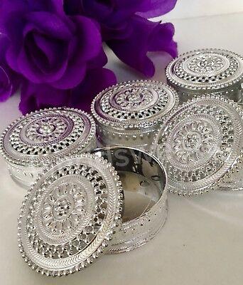 12-Wedding Favor Table Decorations Silver Trinket Box Recuerdos Primera Comunion - Wedding Table Favors