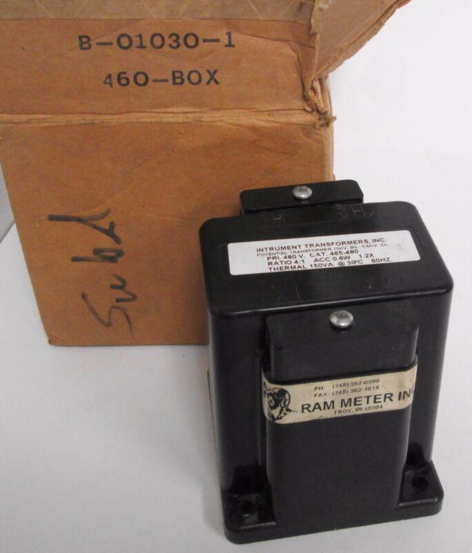 Instrument Transformers 465-480 Potential Transformer Primary 480V Ratio 4:1