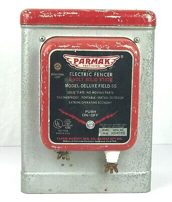 Vintage Parmak Precision Electric Fencer 6volt Solid State Model Deluxe Field Ss