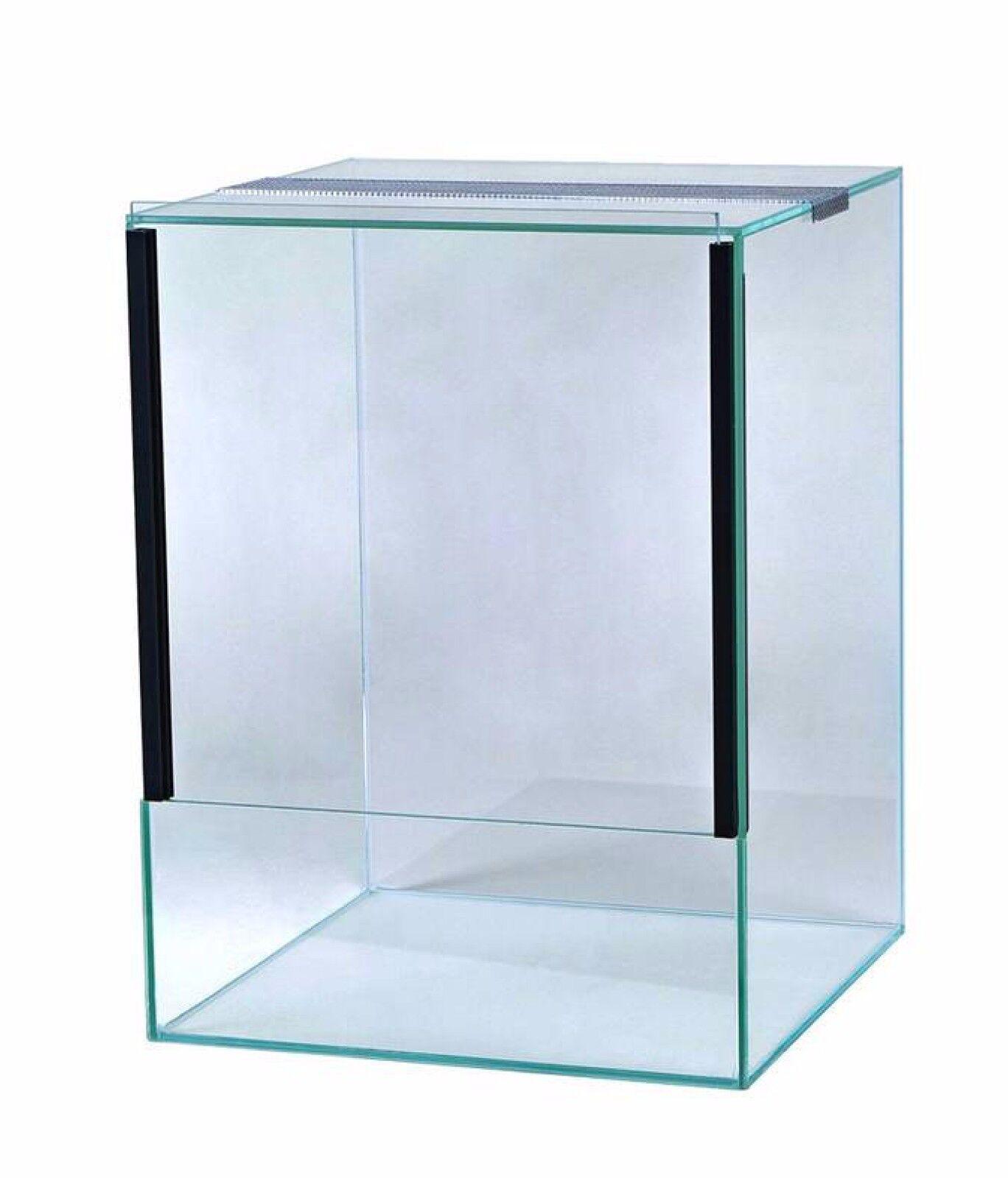 Glas Terrarium Schiebetür Falltür Glasterrarium Reptilien Spinnen viele Größen 30x30x40 Falltür